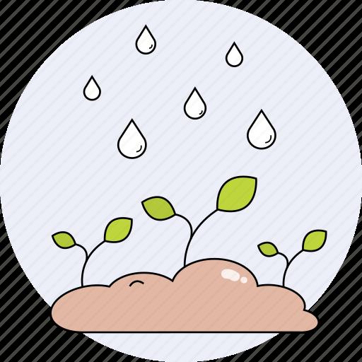 nature, plants, rain, season, spring icon