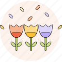 decorative, flower, garden, nature, plant, spring, summer icon