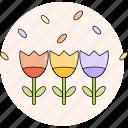decorative, flower, garden, nature, plant, spring icon