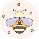 bee, garden, honey, nature, season, spring icon