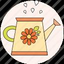 flower, funnel, spring, water, garden