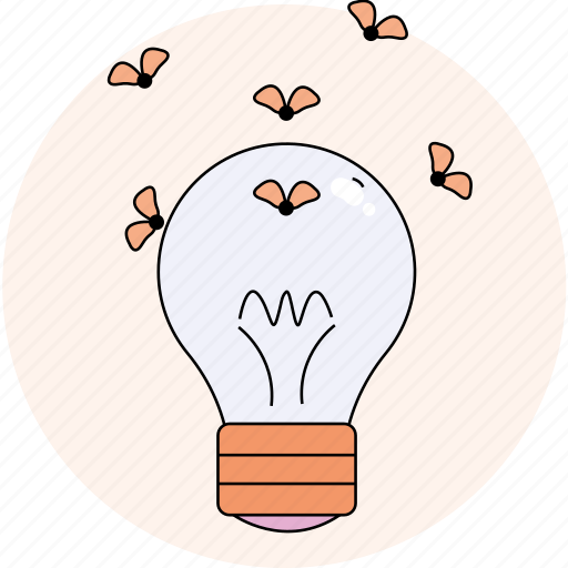 electric, lamp, spring, summer icon