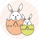 bunny, easter, eggs, rabbit, season, spring icon