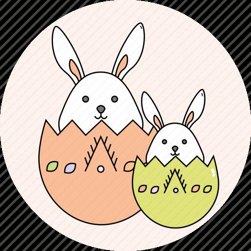 bunny, easter, eggs, rabbit, season, spring icon