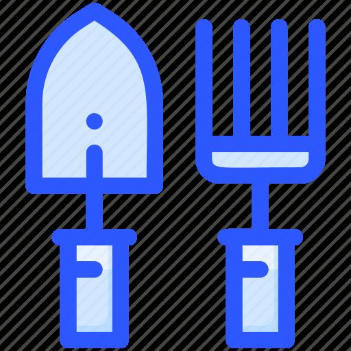 Agriculture, gardening, rake, shovel, tool icon - Download on Iconfinder
