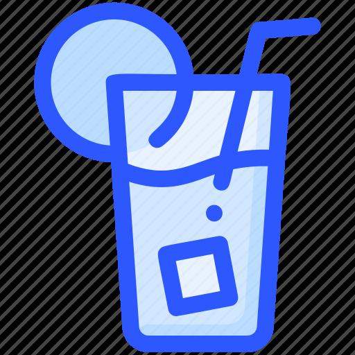 beverage, drink, ice, lemon, tea icon