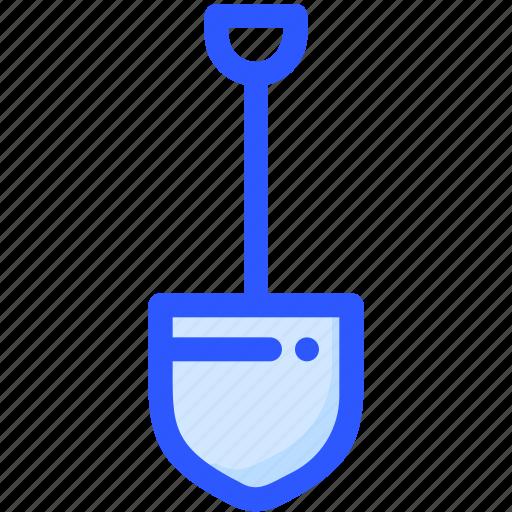 construction, dig, gardening, shovel, tool icon