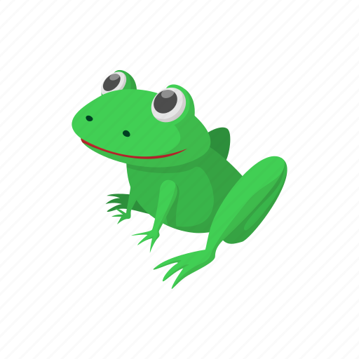 animal, cartoon, frog, funny, green, nature, sign icon