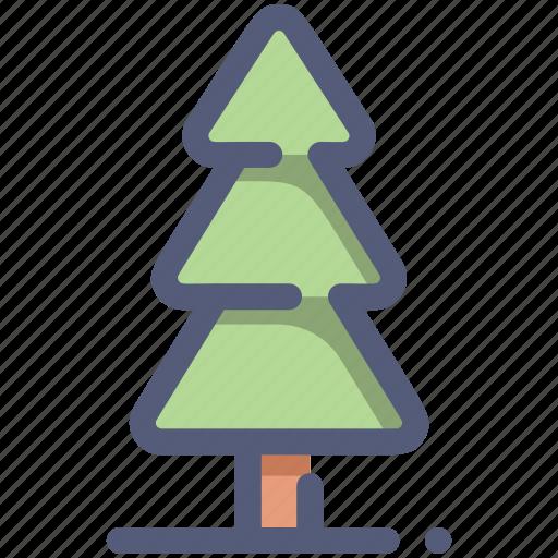 christmas, nature, pine, tree, wood icon
