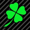 clover, four, leaf, leaves, spring