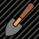 digger, garden, shovel, small, spring