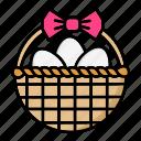basket, easter, egg, nature