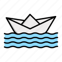 paper, child, boat, baby, toy icon