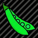 beans, food, healthy, peas, vegetable