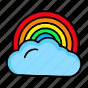 cloud, rainbow, rainbowforecast, weather