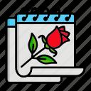 calendar, flower, rose, spring, year