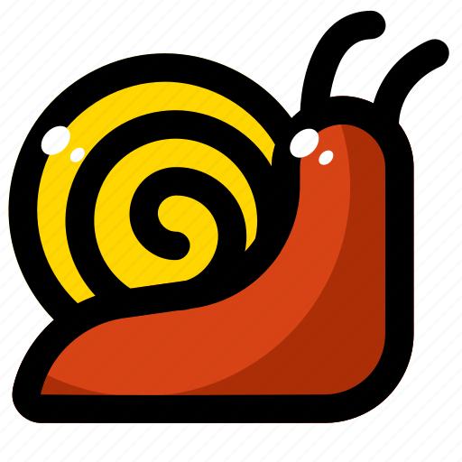 animal, nature, shell, slow, snail icon