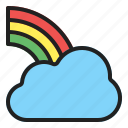 rainbow, sky, spectrum, spring icon