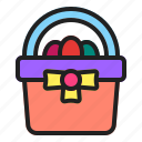 basket, egg, gift, picnic, spring icon
