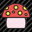 healthy, mushroom, nature, organic, spring icon