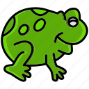 animal, flourish, frog, spring, sunshine, toad, weather icon