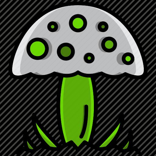 flourish, fungus, mould, mushroom, spring, sunshine, weather icon