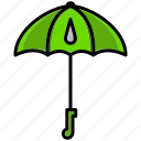brolly, flourish, parachute, spring, sunshine, umbrella, weather icon