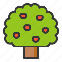 apple, apple tree, nature, spring, tree icon