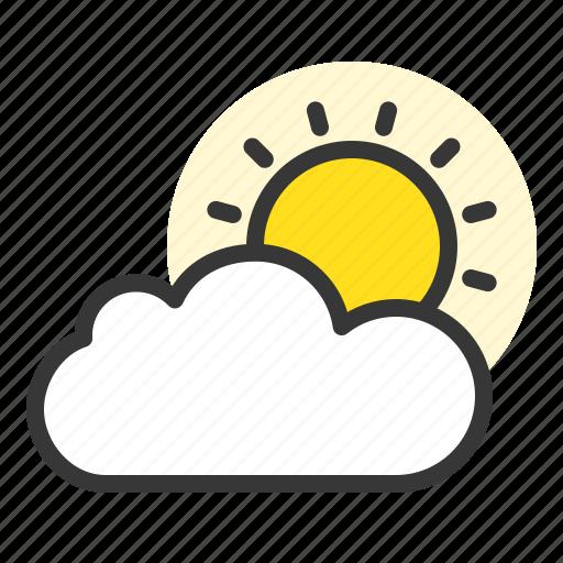 cloud, nature, spring, sun icon
