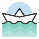boat, nature, sea, spring, water, wave icon