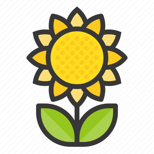 floral, flower, nature, spring, sun flower icon