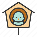 bird, bird house, house, spring icon