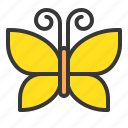 butterfly, fly, insect, spring icon