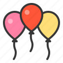 balloon, nature, spring icon