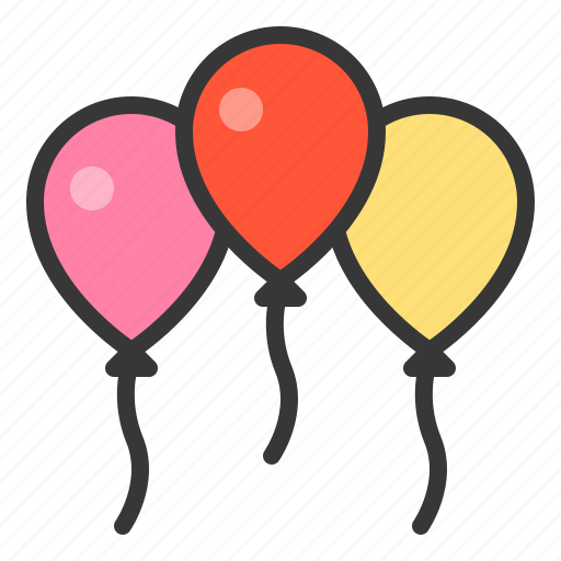 balloon, nature, spring icon