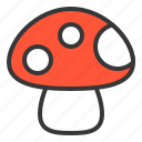 food, mushroom, nature, spring icon