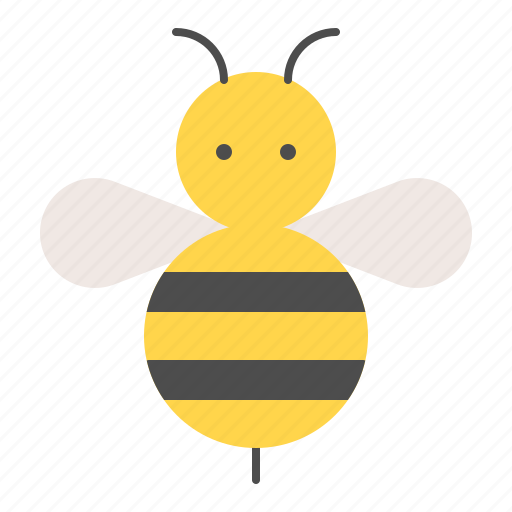 bee, bumblebee, insect, spring icon