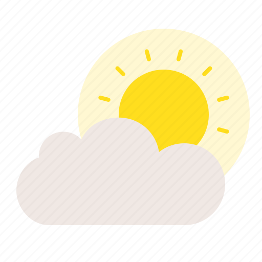 Spring, nature, cloud, sun icon