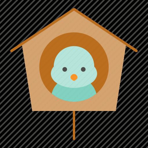 bird, bird house, house, spring icon