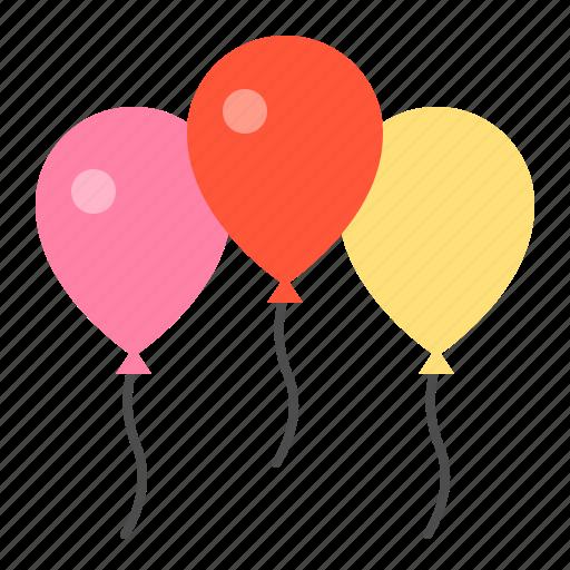balloon, fly, spring icon