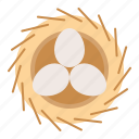 bird's nest, egg, nature, nest, spring icon