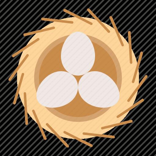bird's nest, egg, nature, nest, spring icon