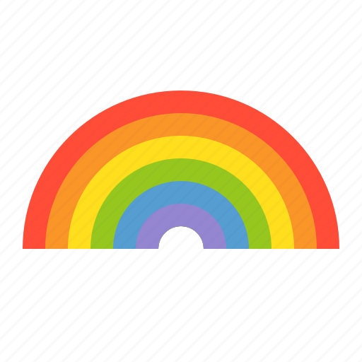 colorful, nature, rainbow, spring icon