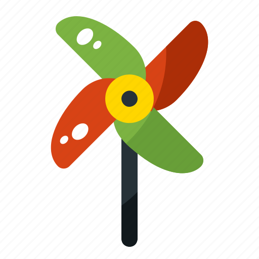 fan, paper, pinwheel, spring, toy, windmill icon