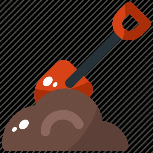 agriculture, garden, shovel, spring, tool icon