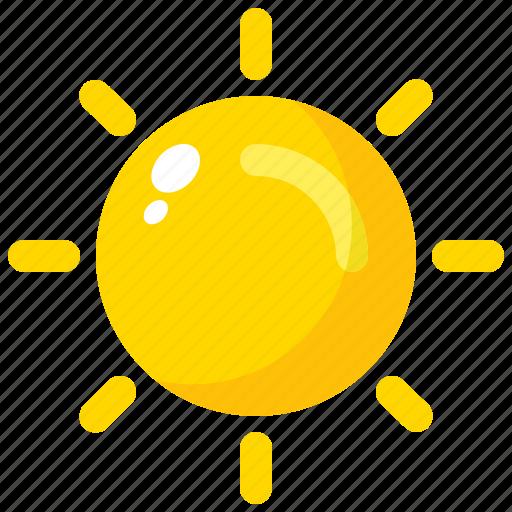 day, heat, hot, spring, sun icon