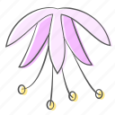 floral, flower, nature, nodding, onion, ornament, plant icon