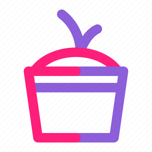 dual, gardening, line, multiply, plant, pot, tools icon