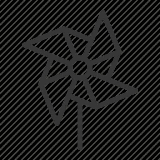 spring, wind, windmill icon