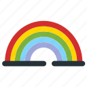 bright, nature, rainbow, spring, weather icon